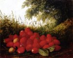 strawberries in a landscape by paul lacroix art