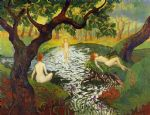 paul ranson three bathers with irises paintings