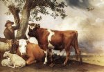 young bull by paulus potter painting