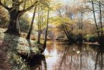 peder mork monsted a river landscape in springtime painting 77322