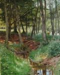 peder mork monsted landscape with deer painting 80162