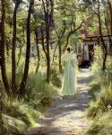 marie in the garden by peder severin kroyer painting