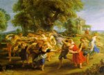 peter paul rubens a peasant dance painting