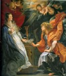annunciation 2 by peter paul rubens painting