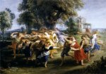 dance oil paintings - dance of italian villagers by peter paul rubens