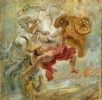 peter paul rubens fall of phaeton painting