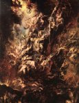 fall of the rebel angels by peter paul rubens painting