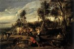 farm at laken by peter paul rubens painting