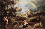 peter paul rubens landscape with a rainbow prints