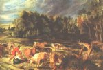 peter paul rubens landscape with cows painting 26832