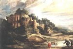 peter paul rubens landscape with the ruins of mount palatine in rome painting 26835