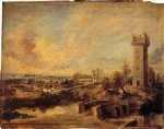 peter paul rubens landscape with tower painting 27085