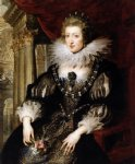 peter paul rubens portrait of anne of austria painting 26887