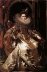 portrait paintings - portrait of maria serra pallavicino by peter paul rubens