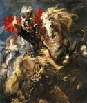 peter paul rubens st george and a dragon painting