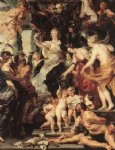 the happiness of the regency by peter paul rubens painting