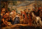 peter paul rubens the meeting of david and abigail painting