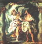 peter paul rubens the prophet elijah receiving bread and water from an angel painting