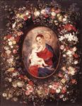 peter paul rubens the virgin and child in a garland of flower painting 84331