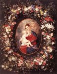 peter paul rubens the virgin and child in a garland of flower paintings