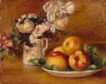 pierre auguste renoir apples and flowers painting 25969