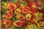 rose paintings - armful of roses by pierre auguste renoir