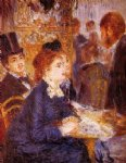 pierre auguste renoir at the cafe painting