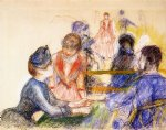 pierre auguste renoir at the moulin de la galette painting