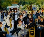 pierre auguste renoir ball at the moulin de la galette painting