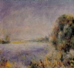pierre auguste renoir banks of the river iii painting