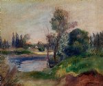 pierre auguste renoir banks of the river painting