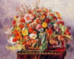pierre auguste renoir basket of flowers painting