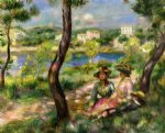 pierre auguste renoir beaulieu women and little boy print