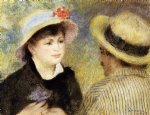 pierre auguste renoir boating couple art