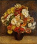 pierre auguste renoir bouquet of chrysanthemums i painting
