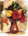 pierre auguste renoir bouquet of flowers in an earthenware pitcher painting 26019