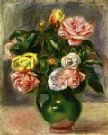 pierre auguste renoir bouquet of roses in a green vase painting 26025