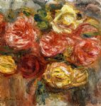 pierre auguste renoir bouquet of roses in a vase painting 26026