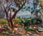 pierre auguste renoir cagnes landscape with woman and child painting 77863