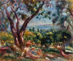 pierre auguste renoir cagnes landscape with woman and child painting 26058