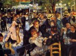 dance oil paintings - dance at the moulin de la galette by pierre auguste renoir