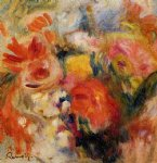 flower paintings - flower study by pierre auguste renoir