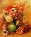 flower paintings - flowers ii by pierre auguste renoir