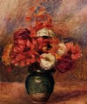 pierre auguste renoir flowers in a green vase painting 26150