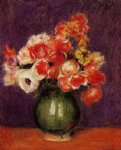 flower paintings - flowers in a vase iii by pierre auguste renoir