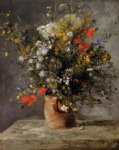 pierre auguste renoir flowers in a vase iv painting 26154
