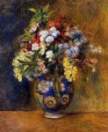 pierre auguste renoir flowers in a vase painting 26158