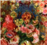 flower paintings - flowers by pierre auguste renoir