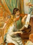 pierre auguste renoir girls at the piano painting-79169