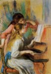 pierre auguste renoir girls at the piano ii oil painting